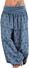 CCatyam Plus Size Pants for Women, Yoga Trousers Wide Leg Print Sexy Loose Casual Fashion