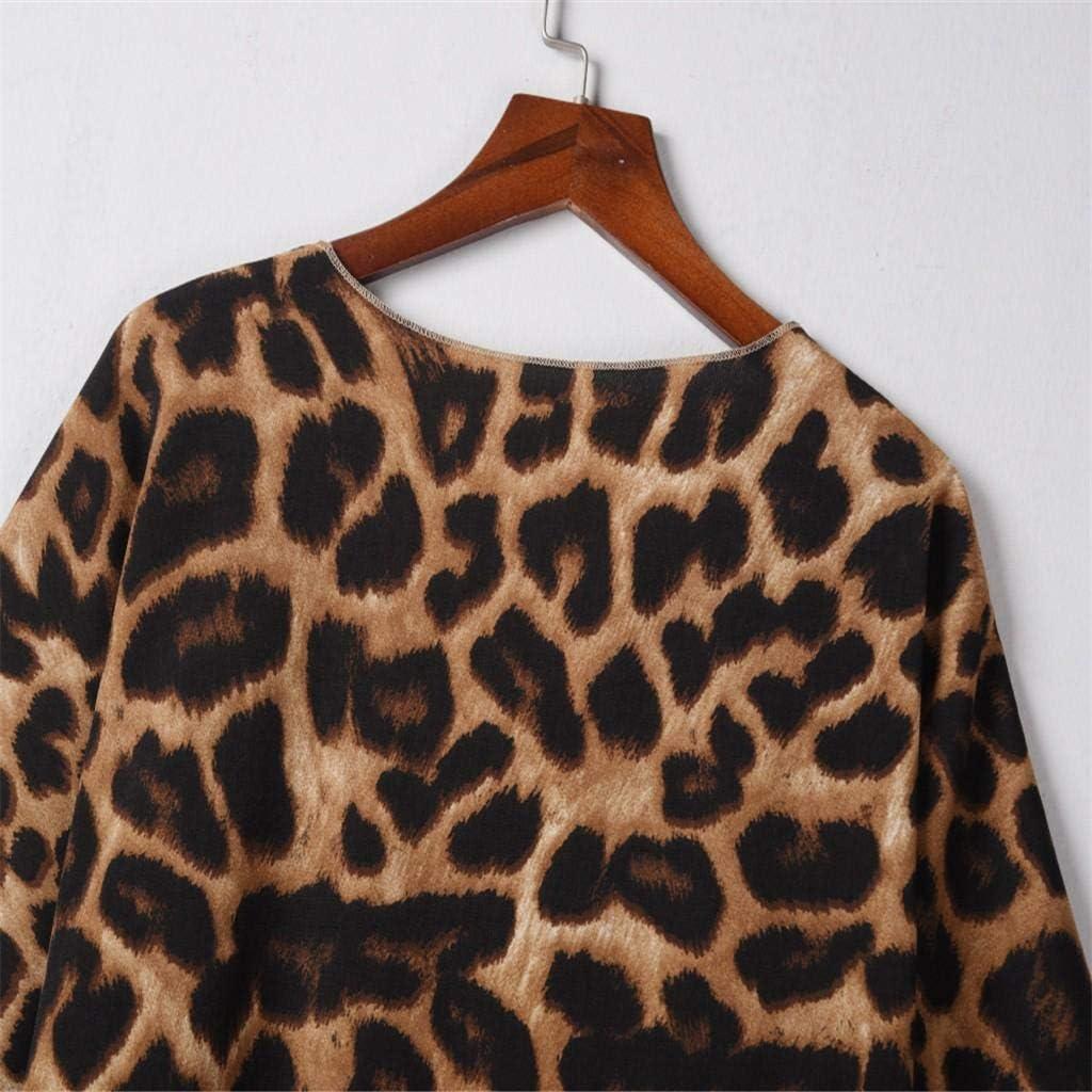 Hffan Damen Mantel Langarm Open Front Cardigan Strickjacke Asymmetrisch Schnitt Strickmantel Langshirt mit Taschen Brown-a