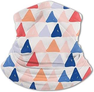 Pañuelo para la Cara de los niños Bandana Conciso Rojo Naranja Triángulo geométrico Patrón Multicolor Variedad para niños ...