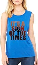 Allntrends Women's Flowy Muscle It's A Sign Of The Times Styles Top