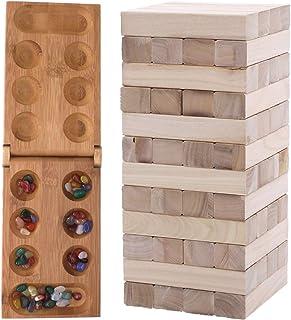UTST バランスゲーム おもちゃ マンカラ おはじき ブロックタワー 2点セット