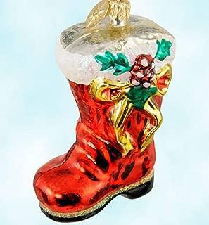 Christopher Radko 2000 Ruby Bootie Qvc Exclusive Santa Glass Ornament 3 1/2