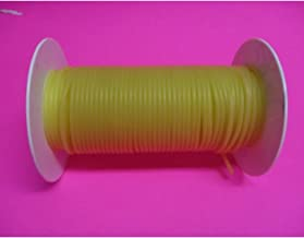 USA Premium Store 50 Feet 1/16 I.D x 1/32 w x 1/8 O.D Surgical Latex Rubber Tubing Amber Reel