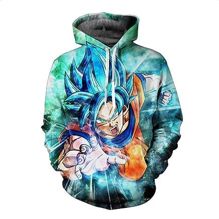 HOOSHIRTA Dragon Ball Z Super Saiyan Printed Mens Hoodies and Sweatshirts Cute 3D Hooded Sweatshirt Men