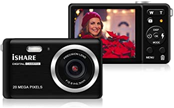 """Digital camera - 2.8"""" TFT LCD Display Rechargeable Simple Digital Camera with 20mp for Kid/Girls/Boys/Students/Elderly (Bl..."""