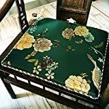 OSHDKSLDS Bequem Stuhl Polster Sofa Kissen chinesische Mahagoni vollholz-möbel Klassische Dicke Stuhl Stuhl Matte-C 38x45cm(15x18inch)
