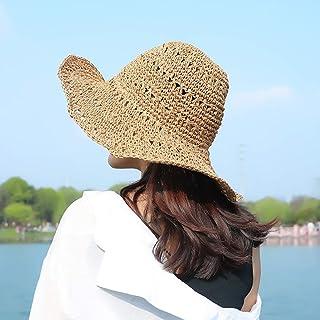 GYZ Sombrero para el Sol - 2019 Moda protección UV Sol Sombrero Verano Sol Sombrero Damas al Aire Libre Playa Vacaciones Sombrero de Paja Verano Salvaje, Hay Muchos Estilos para Elegir Lady Sun Hat