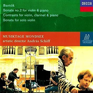 Bartók: Violin Sonata No. 2; Contrasts; Solo Violin Sonata