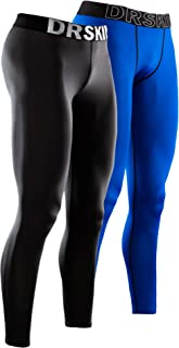 DRSKIN 1~3 Pack Men's Compression Dry Cool Sports Tights Pants Baselayer Running Leggings Yoga (Packs of 1, 2, or 3 Deals)
