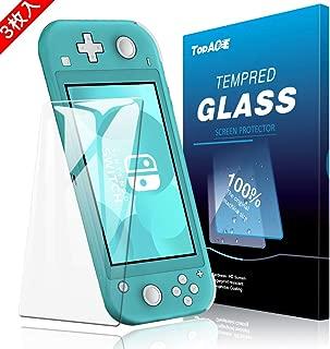Nintendo Switch Lite ガラス フィルム【3枚パック】 TopACE 硬度9H 超薄0.3mm 2.5D 耐衝撃 撥油性 超耐久 耐指紋 日本旭硝子素材採用 飛散防止処理保護フィルム Nintendo Switch Lite 対応