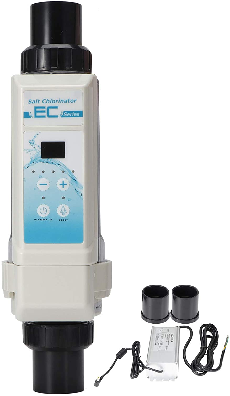Generador de Cloro salino de 50/60 Hz, clorador de Piscina, Tanque de natación de protección de Temperatura de Agua de plástico de 100-240 V para Piscinas, SPA, Piscina Infinita