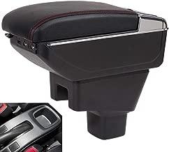 Oneuda Centre Console Storage Box for 2006-2018 Suzuki SX4 Armrest Box Suzuki SX4 Armrest Retractable Car Accessories (Double Rise with USB)