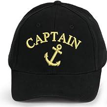 4sold Kapitänsmütze Cap Captain Ancient Mariner, Captain Cabin Boy Crew First Mate Yachting Baseballmütze Inschrift Schriftzug Schwarz Weiß rot Weiss Army Military Baseballmütze Security