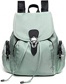 Personality Fashion Oxford Cloth Sports Backpack Travel School Shoulder Bag Daypack (Color : Light Green)