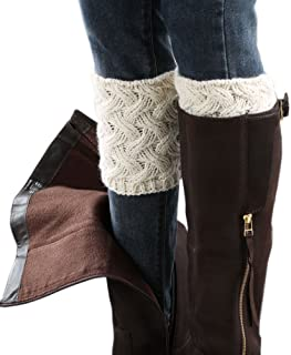 6c97d0be2ca FAYBOX Short Women Crochet Boot Cuffs Winter Cable Knit Leg Warmers