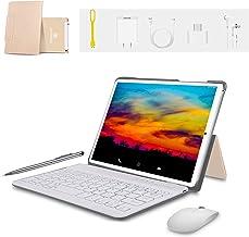 Tablet 10 Pulgadas 4G FHD 64GB de ROM 4GB de RAM Android 9.0 Certificado por Google GMS Tablet PC Procesador de Quad Core Batería 8500mAh Dual SIM 8MP Cámara WiFi,Bluetooth,GPS,OTG(Oro)
