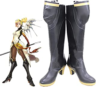 Overwatch Mercy Boots Halloween Cosplay Shoes Game Hero Anime Costume Accessories for Women Girls