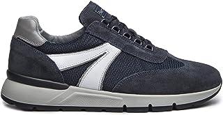 Sneackers Hombre NeroGiardini I001820U entrelazó Ante Gris o Azul Un Calzado cómodo Adecuado para Todas Las Ocasiones. Oto...