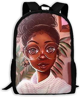 School Backpack Black Girl Afro Girl African American Girl Bookbag Casual Travel Bag For Teen Boys Girls