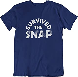 Funny Humor Novelty I Survived The Snap Super Hero T-Shirt
