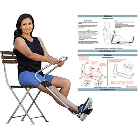 """IdealKnee: The Most Effective and Easy to Use Treatment for Knee Extension   for Athletes + Physical Therapy + Rehab + Ortho   Comes with ONE Comfort pad for The""""Over The Knee"""" Strap"""