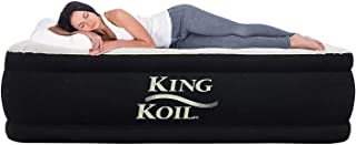 King Koil California King Luxury Raised Air Mattress with Built-in 120V AC High Capacity..