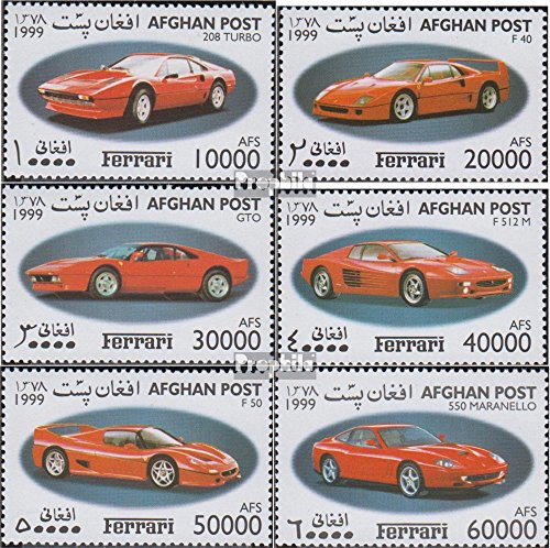 Prophila Collection Afghanistan Michel.-No..: 1910-1915 (Completa Edizione) 1999 Ferrari-Automobile (Francobolli per i Collezionisti) Traffico Stradale