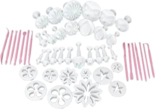 Generic Cake Decorating Fondant Icing Cutter Plunger Set, 47-Pieces, Multicolour