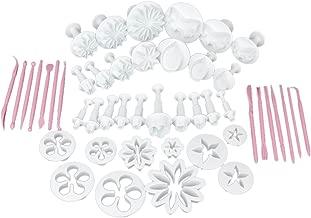 Generic Cake Decorating Fondant Icing Cutter Plunger Set, 47-Pieces, Multicolour