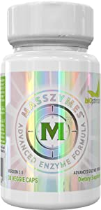 MassZymes - Digestive Enzyme Supplement - with Proteolytic Enzymes - Provides Bloating, Constipation, and Gas Relief - Contains Lipase, Amylase, and Bromelain (30 Capsules)
