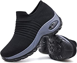 Women's Walking Shoes Sock Sneakers – Mesh Slip On Air Cushion Lady Girls..