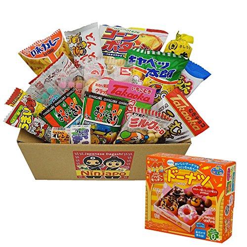 Kracie Happy Kitchen Donuts & Japanese Snacks Dagashi 20pcs Set Ninjapo Package Sweets Candy by Dagashi