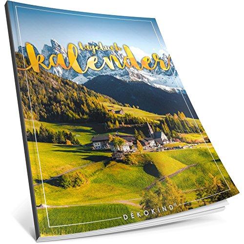 Dékokind® Tagebuch-Kalender: One Line A Day • Ca. A4-Format, Notizseiten & Zitate für jeden Monat • Buchkalender, Aufgabenplaner, Terminplaner • ArtNr. 38 Bergregion • Vintage Softcover