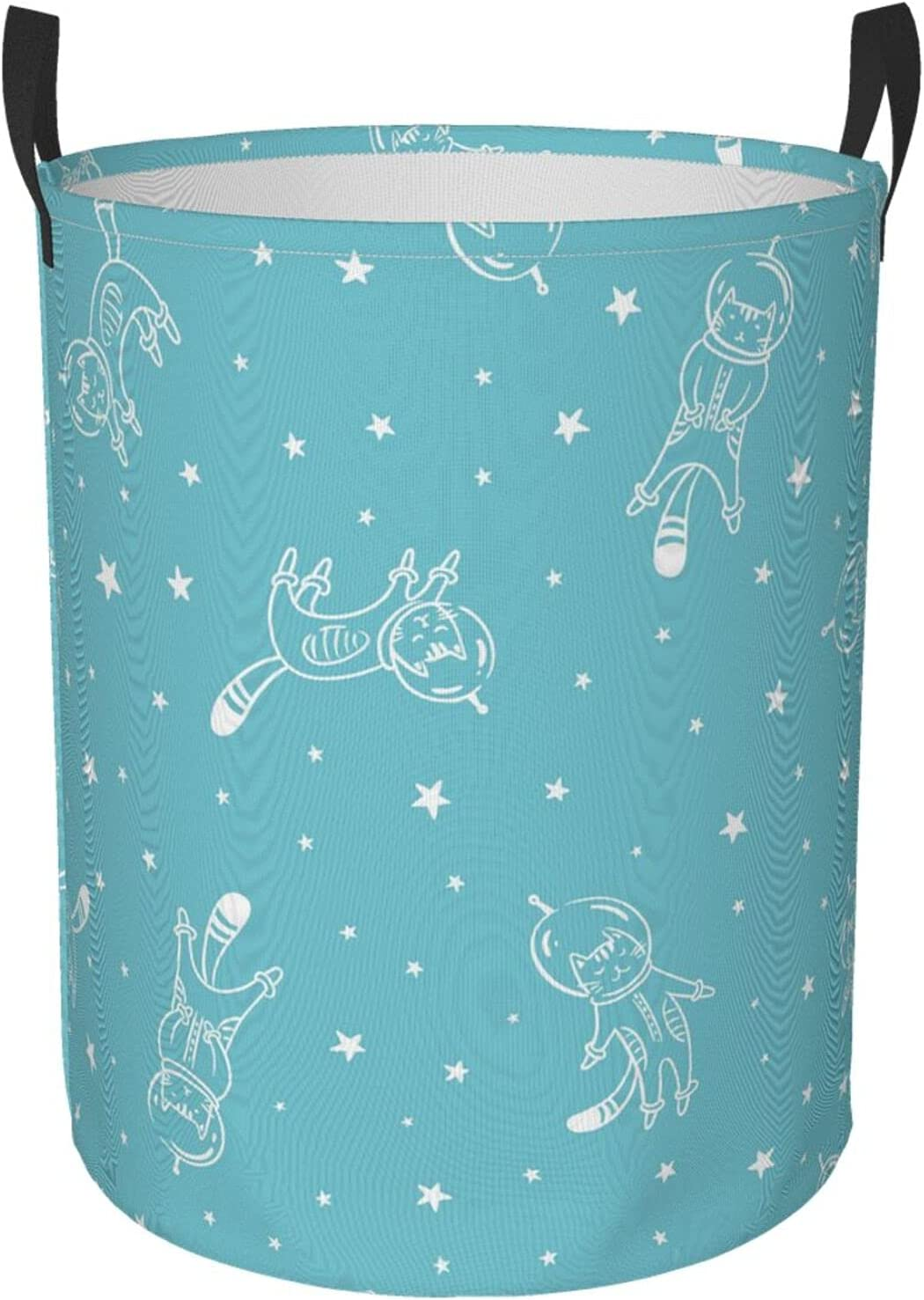 Laundry Baskets Hamper for Men Super Special SALE held Funny in trust Cat on Astronaut Space