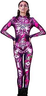 (ADOSSY) ボディースーツ キャットスーツ ハロウィン コスプレ 衣装 セクシー 女王様 ボンテージ ピンク リボン 宝石 ジュエリー (XL)