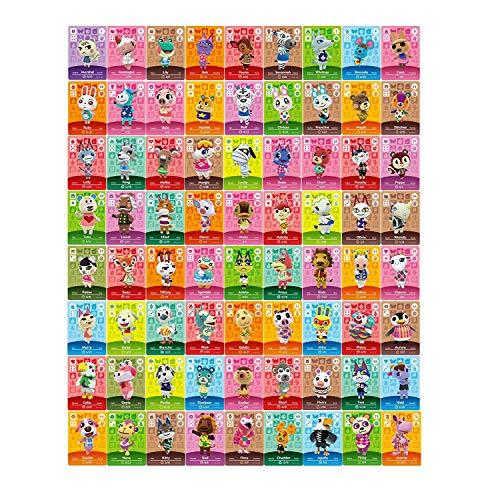 72 Stück NFC Tag Mini Game Spiel Selten Charakter Dorfbewohner Karten für Animal Crossing für Switch Mit Aufbewahrungsbox