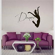 Calcomanías de pared de danza bailarín Cita calcomanía removible etiqueta DIY arte decoración de pared mural arte decoraci...