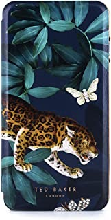Ted Baker FREIIDA Fashion Mirror Folio Case for iPhone 8 Plus / 7 Plus, Protective Cover for Professional Womens/Girls for Phone 8 Plus / 7 Plus - Houdini Green