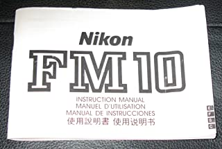 Nikon FM10 Original Instruction Manual