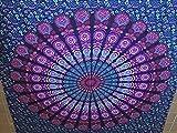 2 Tapices mándalas multicolor, colección de mándalas, 100x100 algodón, tamaño de 210cm.X240cm.,2 unidades como las mostradas en imágenes individuales