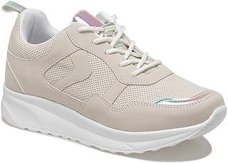 CS20054 Bej Kadın Spor Ayakkabı
