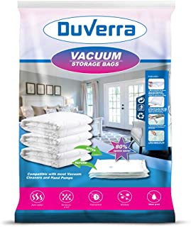 Duverra Reusable Vacuum Storage Space Saver Bags, (Pump not Included). (28 x 20 Inch / 50 x 70 cm) (Small - 6 Pack(50 x 70 cm)