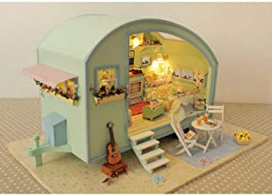 Time Travel DIY Music Caravan Dollhouse Furniture Project Toy Miniature Kits