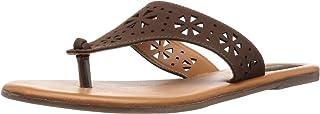 BATA Women's Aditi Th Leather Fashion Slippers
