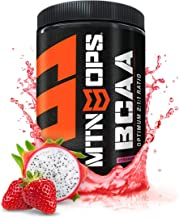 MTN OPS BCAA 2:1:1 Muscle Building & Recovery Supplement, Strawberry Dragonfruit Flavor, 30-Serving Tub
