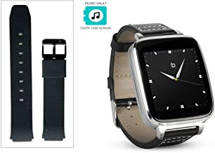 Beantech Engage Plus Smart Watch for Apple/Android Phones., Silver with Black Strap, Engage Plus Smartwatch Bundle