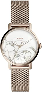 Fossil Womens Quartz Watch, Analog Display and Stainless Steel Strap ES4404