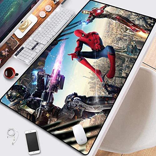 Gaming étendu tapis de souris Grand tapis de souris Spider Man Comic Book Superhero Clavier Tapis for souris portable Ordinateur de bureau Souris PC Pad (Color : G, Size : 800X300)