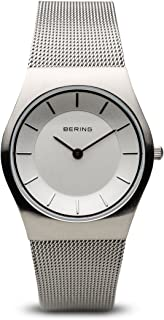 BERING Time 11930-001 Womens Classic Collection Watch with Mesh Band and Scratch Resistant Sapphire Crystal. Designed in Denmark.