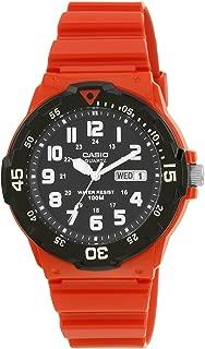 Casio Casual Watch Analog Display Quartz For Men Mrw-200Hc-4Bv, Red Band